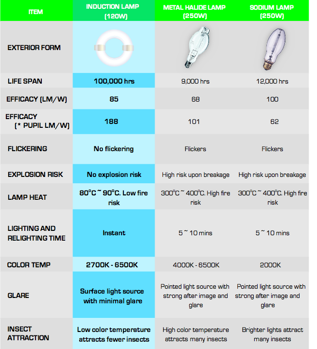Others Induction Lamp Vs